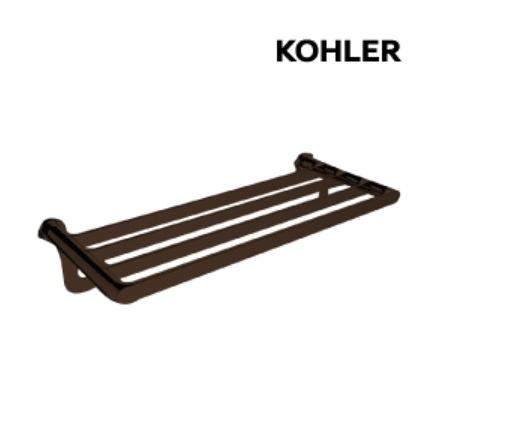 【 麗室衛浴】美國KOHLER活動促銷 AVID 置衣毛巾架 K-97497T-2BL