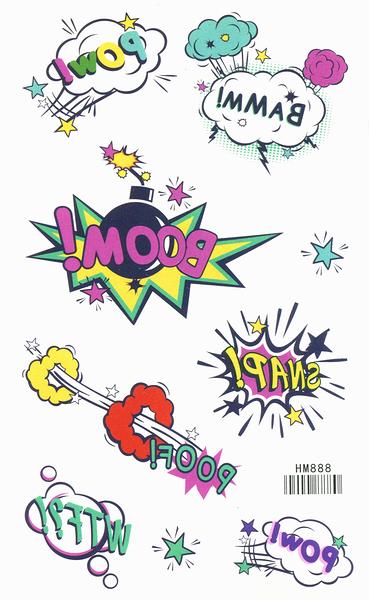 薇嘉雅 BOOM 紋身貼紙 HM888