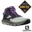 【SALOMON 法國】男 PREDICT HIKE GTX 中筒登山鞋『黑/海洋灰/皇家紫』414610 健行鞋.多功能鞋