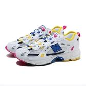 NEW BALANCE 慢跑鞋 NB 827 白黃桃 深藍 麂皮LOGO 休閒鞋 男女 (布魯克林) ML827AAO