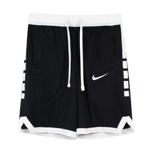 NIKE AS M NK DRY ELITE SHORT STRPE 男款黑色褲口白運動短褲-NO.AJ3905010