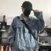 初秋2019新款原宿風復古水洗牛仔上衣寬鬆超火外套夾克潮歐韓時代