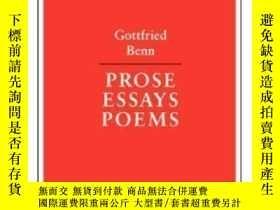 二手書博民逛書店Prose罕見Essays Poems (german Library)-散文散文詩(德國圖書館)Y43663