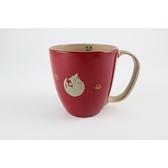 【日本製】【越前漆器】貓咪 馬克杯 朱(紅) SD-2328 - 日本製