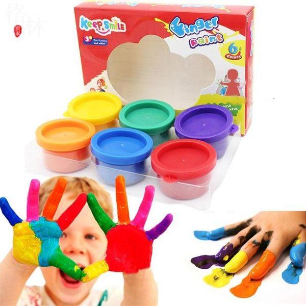 幼兒手指畫顏料無毒可水洗兒童繪畫涂鴉畫畫工具 【格林世家】