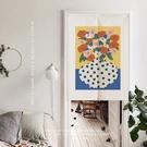 可愛時尚棉麻門簾E854 廚房半簾 咖啡簾 窗幔簾 穿杆簾 風水簾 (60cm寬*90cm高)
