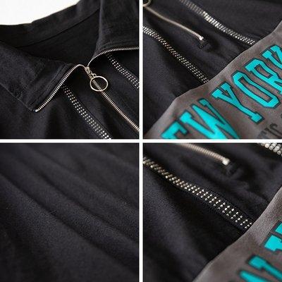 中大碼衣著L-5XL 棉花糖女生字母設計拼接翻領中長款短袖連衣裙NB11G.7528胖胖唯依