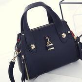 斜背包 側背包 韓版簡約金屬鎖扣掛飾手提包 S9736 心鎖 寶來小舖 現貨供應