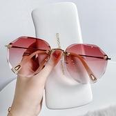 墨鏡女2021年新款潮夏海邊防紫外線太陽眼鏡開車專用眼睛大臉顯瘦 一米陽光