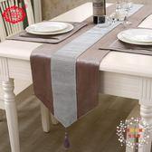 一件85折免運--桌巾桌旗茶幾布餐桌裝飾長條布歐式時尚大氣現代簡約桌墊鑲鉆桌布床旗