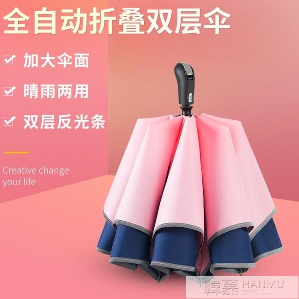 雨傘長柄男女雙層自動大號超大三人加固防風商務傘雙人  夏季新品 YTL