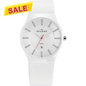 SKAGEN 超薄陶瓷時尚腕錶/手錶-白 233XLCLW