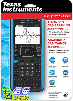 [9美國直購] Texas Instruments 圖形計算機TI-Nspire CX II CAS Color Graphing Calculator with Student Software (PC/Mac)