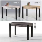 【水晶晶家具/傢俱首選】CX1454-5尼可拉3.5呎白金絲木正木心板雙抽書桌~~三色可選