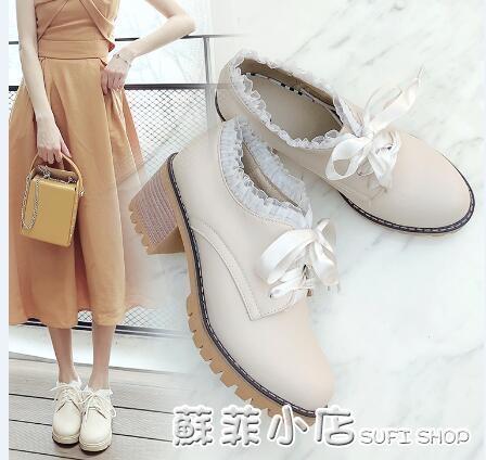 秋季女鞋冬季高跟鞋2020年新款鞋子秋冬百搭粗跟單鞋英倫風小皮鞋 蘇菲小店
