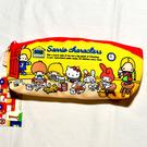 Sanrio 家族 帆布 筆袋 化妝包 包包 收納包 日本正版商品