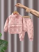 女童秋裝套裝2021新款洋氣兒童網紅運動工裝女寶寶小童秋季兩件套 幸福第一站