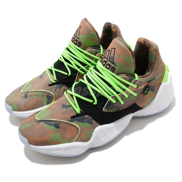 adidas 籃球鞋 Harden Vol.4 Daniel Patrick 綠 黑 男鞋 聯名 運動鞋【ACS】 FY2789