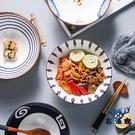 拉面碗單個斗笠碗飯碗吃泡面碗陶瓷餐具大號湯碗面碗【古怪舍】