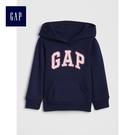 Gap女嬰幼童 Logo套頭連帽休閒上衣 851512-海軍淺藍