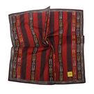 FENDI雙F鍊帶條紋純棉帕巾(紫紅色)989006-16