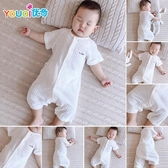 嬰兒連身衣服夏季新生幼兒男寶寶女睡衣薄款夏裝純棉短袖夏天哈衣 滿天星