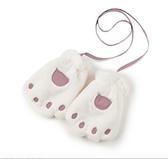 保暖手套 童裝秋冬新款女童保暖手套洋氣潮