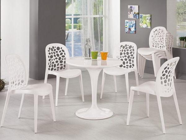 休閒桌椅 MK-498-1 珍尼絲2.3尺圓桌【大眾家居舘】