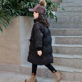 【雙十二】預熱女童棉衣冬裝2018新款韓版小女孩洋氣棉襖外套兒童棉服中長款童裝  巴黎街頭