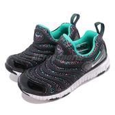 Nike 慢跑鞋 Dynamo Free SE PS 毛毛蟲 黑 藍 運動鞋 童鞋 中童鞋【PUMP306】 AA7216-003