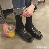 平底樂福鞋 韓版日系軟妹原宿小皮鞋女潮學院風學生單鞋 BF22303『寶貝兒童裝』