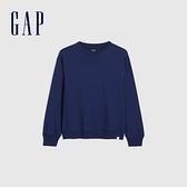 Gap男童 純棉舒適圓領上衣 701028-深藍色