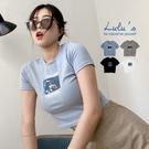LULUS【A01210417】G自訂款GAL太空人短版T恤4色