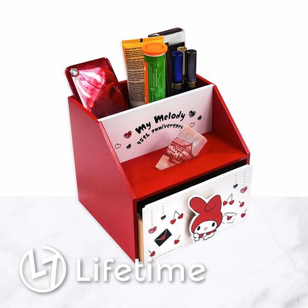﹝美樂蒂45週年單抽置物筒﹞正版 收納盒 筆筒 置物盒 存錢筒 美樂蒂〖LifeTime一生流行館〗