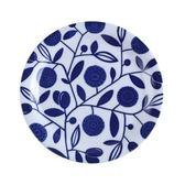 日本若藍系列圓盤19.5cm花橄欖