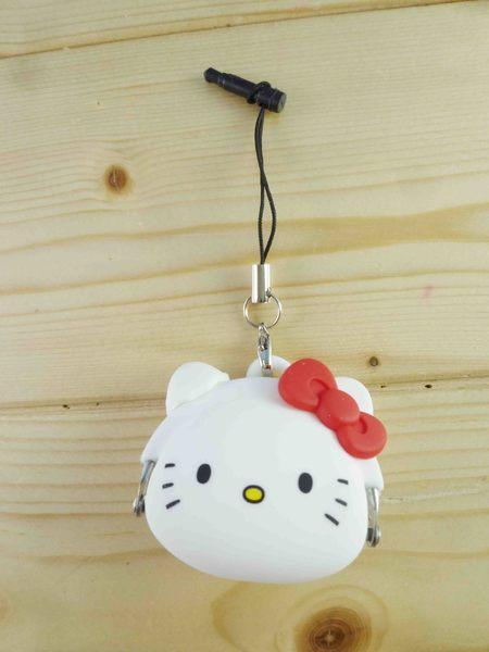 【震撼精品百貨】Hello Kitty 凱蒂貓~KITTY手機吊飾-矽膠零錢包-白色