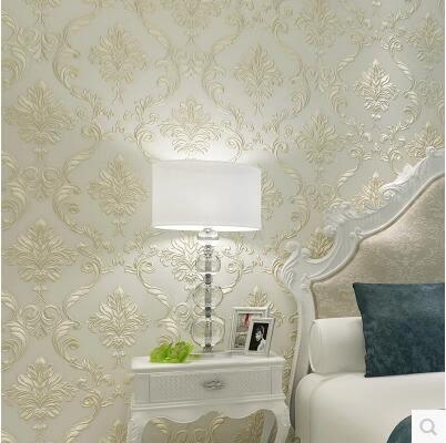 歐式奢華無紡布壁紙 背景牆壁紙精壓浮雕3d牆紙