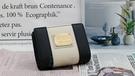 Roberto Mocali 諾貝兔 黑白系列 拉鍊零錢袋扣式短夾 RM-52201