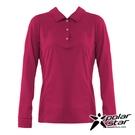 【PolarStar】女 吸排抗UV POLO衫『玫瑰紅』P20254 上衣 休閒 戶外 登山 吸濕排汗 透氣 長袖