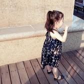 七夕節禮物-女童夏裝新款2018正韓連衣裙女孩兒童寶寶時尚清新無袖吊帶碎花裙【優惠兩天】