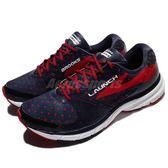 BROOKS 慢跑鞋 Launch 3 Olympic 發射系列 三代 藍 紅 DNA動態避震科技 運動鞋 男鞋【PUMP306】 1102151D478