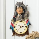 兒童鐘表卡通掛鐘客廳家用創意個性時尚現代簡約墻面靜音裝飾時鐘