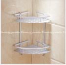 【鋁雙層轉角架】衛浴室太空鋁雙層三角置物...