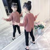 兒童毛衣女童裝毛衣套頭秋冬季新款洋氣打底針織衫中大童兒童韓版加厚伊芙莎