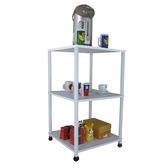 深40x寬40-三層長管型-置物架 收納架 茶几 廚房電器架(三色)WP4040L3L