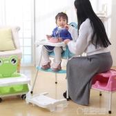 寶寶餐椅兒童吃飯宜家餐桌椅子嬰兒吃飯座椅便攜可折疊飯桌學坐椅   草莓妞妞