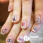 【R】時尚可愛造型指甲貼紙 美甲指甲油貼花 彩繪指甲果凍指甲貼片法式指甲貼聖誕節