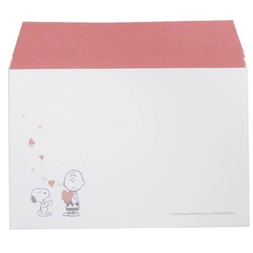 SNOOPY日本製極簡童趣信紙組S(愛心紅)★funbox★KAMIO_KM08524