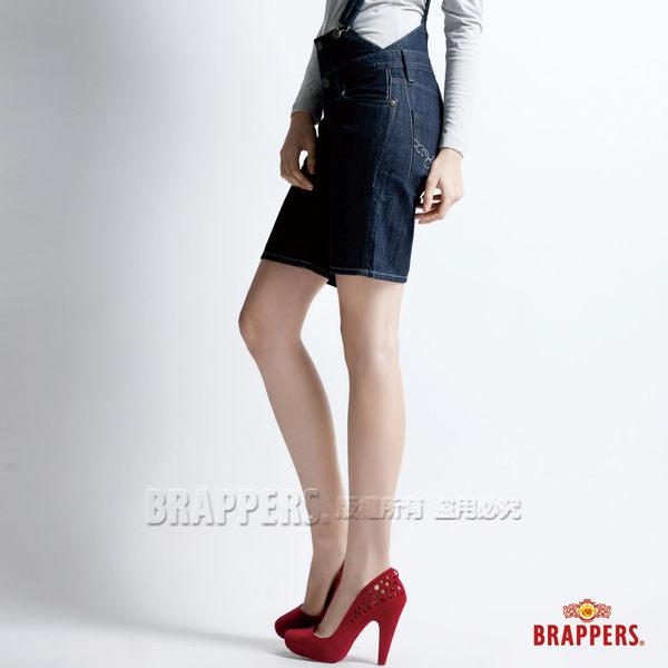 BRAPPERS 女款 合身吊帶短褲-水洗藍