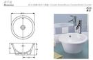 【麗室衛浴】英國陶瓷-IMPERIAL品牌 正圓下崁盆、上崁盆 C- 423 (現貨供應)